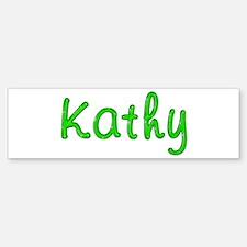 Kathy Glitter Gel Bumper Bumper Bumper Sticker
