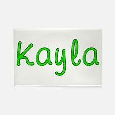 Kayla Glitter Gel Rectangle Magnet