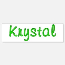 Krystal Glitter Gel Bumper Bumper Bumper Sticker