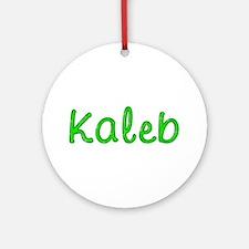 Kaleb Glitter Gel Round Ornament