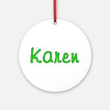 Karen Glitter Gel Round Ornament