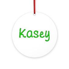 Kasey Glitter Gel Round Ornament