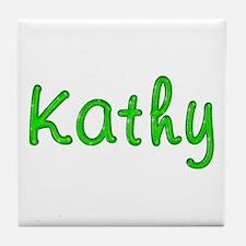 Kathy Glitter Gel Tile Coaster