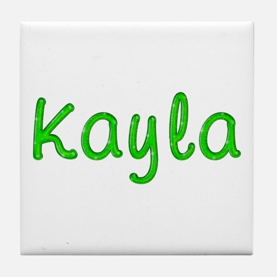 Kayla Glitter Gel Tile Coaster
