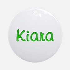 Kiara Glitter Gel Round Ornament