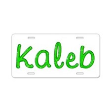 Kaleb Glitter Gel Aluminum License Plate