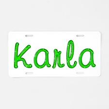 Karla Glitter Gel Aluminum License Plate