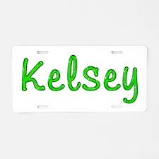 Kelsey Glitter Gel Aluminum License Plate
