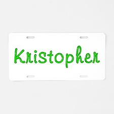 Kristopher Glitter Gel Aluminum License Plate