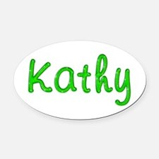 Kathy Glitter Gel Oval Car Magnet