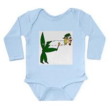 Smoking Pot Leaf Long Sleeve Infant Bodysuit