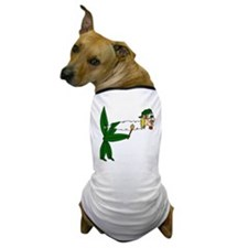 Smoking Pot Leaf Dog T-Shirt