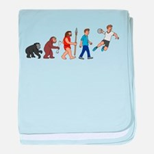 Evolution handball player baby blanket