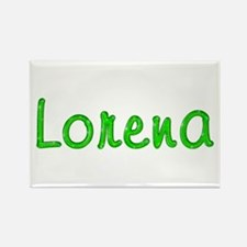 Lorena Glitter Gel Rectangle Magnet