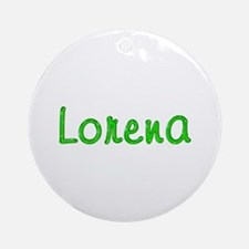 Lorena Glitter Gel Round Ornament