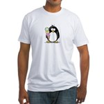 Ice Cream Penguin Fitted T-Shirt