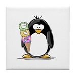Ice Cream Penguin Tile Coaster