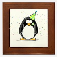 Party Penguin Framed Tile