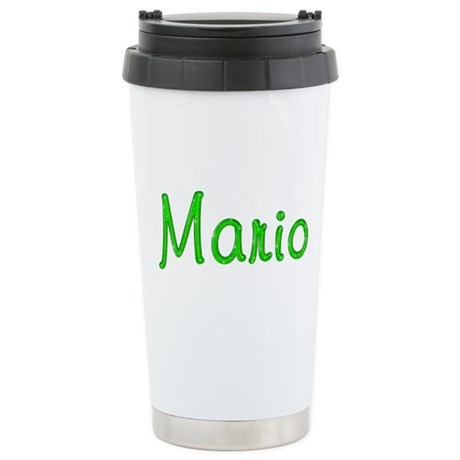 Mario Glitter Gel Stainless Steel Travel Mug