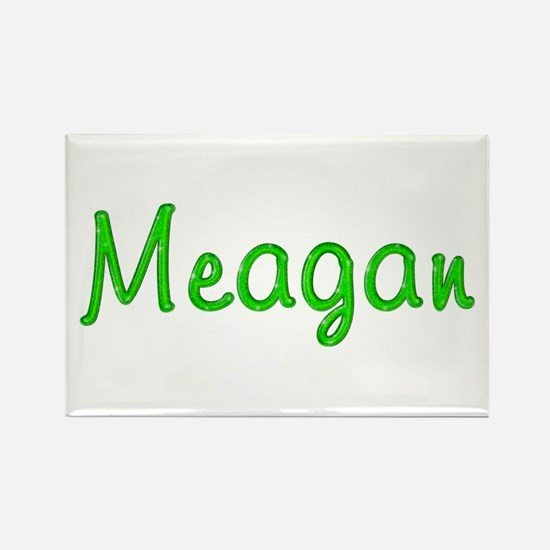 Meagan Glitter Gel Rectangle Magnet