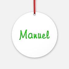 Manuel Glitter Gel Round Ornament