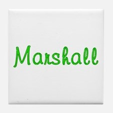 Marshall Glitter Gel Tile Coaster