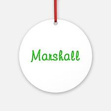 Marshall Glitter Gel Round Ornament