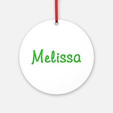 Melissa Glitter Gel Round Ornament