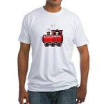 Penguin on a Train Fitted T-Shirt