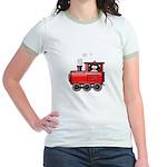 Penguin on a Train Jr. Ringer T-Shirt