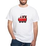 Penguin on a Train White T-Shirt