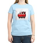 Penguin on a Train Women's Pink T-Shirt