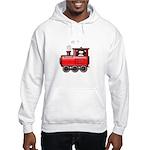 Penguin on a Train Hooded Sweatshirt