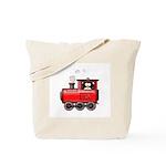 Penguin on a Train Tote Bag
