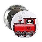 Penguin on a Train Button