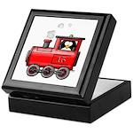 Penguin on a Train Keepsake Box