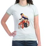 Motorcycle Mama Jr. Ringer T-Shirt
