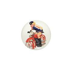 Motorcycle Mama Mini Button