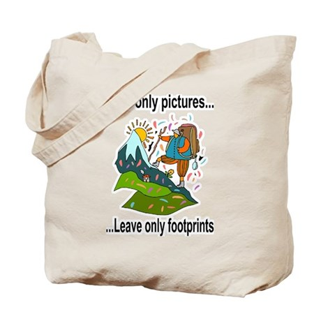 2-leave only footprints.png Tote Bag