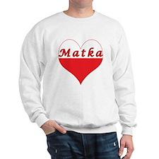Matka Polish Heart Sweatshirt