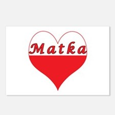 Matka Polish Heart Postcards (Package of 8)