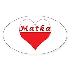 Matka Polish Heart Decal