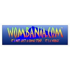 "WOMBANIA.COM 10"" x 3"" Bumper Bumper Sticker"