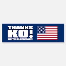 THANKS KO! Bumper Bumper Bumper Sticker