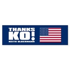 THANKS KO! Bumper Bumper Sticker
