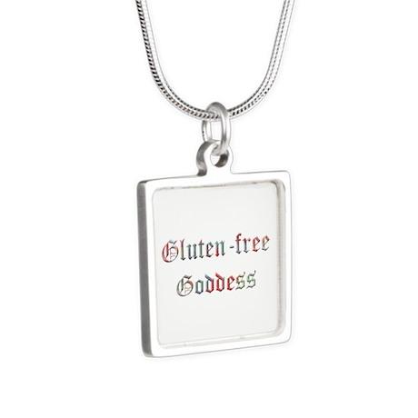 Gluten free Goddess Silver Square Necklace