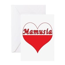 Mamusia Polish Heart Greeting Card