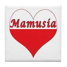 Mamusia Polish Heart Tile Coaster