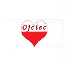 Ojciec Polish Heart Aluminum License Plate