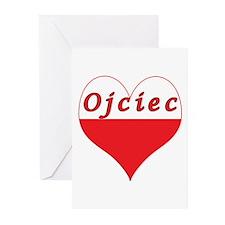Ojciec Polish Heart Greeting Cards (Pk of 10)